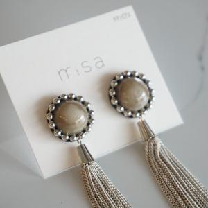 misa // ピアス tassel  gray