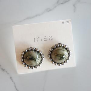 misa // ピアス white brown