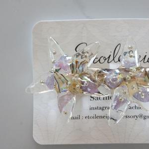 Etoileneige // starfish バレッタ  purple silver
