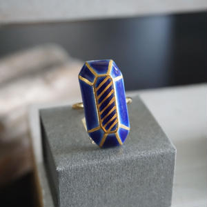 chasochimi // ring  (navy blue)