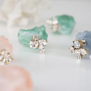 Cilsoie // ミネラルビジューピアス Mineral bijou earrings