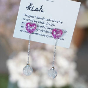 kish. // ピアス&イヤリング pink