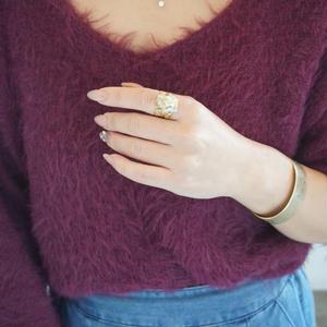 chasochimi // ring (pale blue x gold)