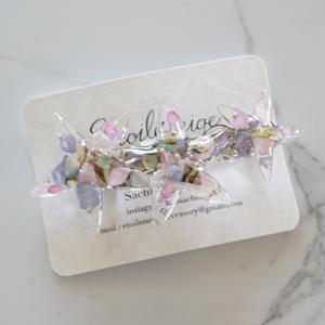 Etoileneige // starfish バレッタ  pink purple
