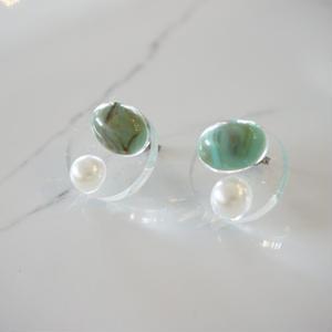 CAAN //ピアス tarquoise x pearl