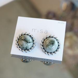 misa // ピアス gray marble