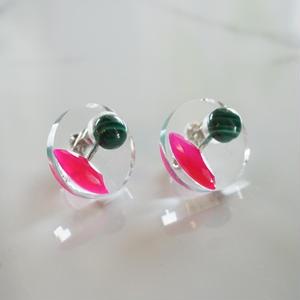 CAAN // イヤリング green x pink