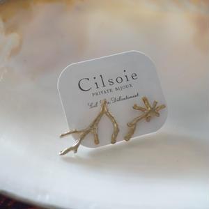 Cilsoie // 枝珊瑚のピアス(GOLD)