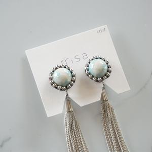 misa // イヤリング tassel pale blue twinkle