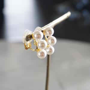 in mood // glass pearl earrings 3 イヤリング non-pierced earrings