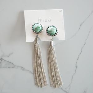 misa // イヤリング tassel green
