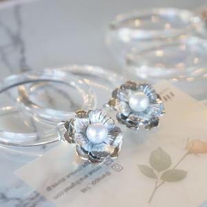 rimiue // ピアス&イヤリング クリアフープ  clear hoop earrings