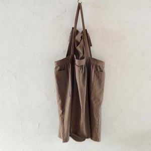 COCOLO Linen Dress apron(Chocolate)