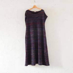 takuroh shirafuji No Sleeve Wool Dress (Purple)