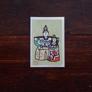 古道具 ひな祭りの版画