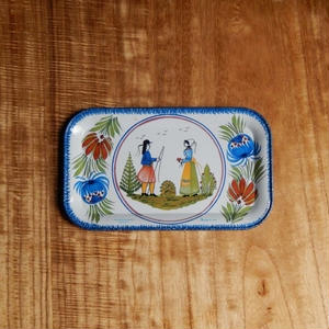 antiques  FAINENCERIES DE QUIMPER ミニトレイ