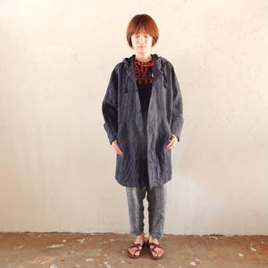 takuroh shirafuku x bitebyyourskin [Shirt coat(Navy): Women]