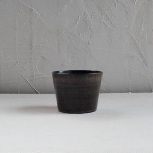 土田和茂  蕎麦猪口(黒)