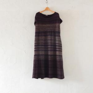 takuroh shirafuji No Sleeve Wool Dress (Bordeaux)