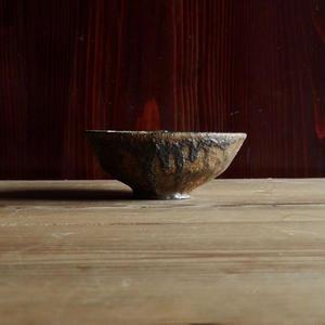 鶴野啓司  鉄化粧灰釉碗