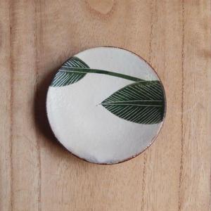 大谷桃子  バナナの葉豆豆皿(緑)