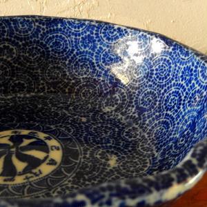 古道具 蛸唐草 印判の鉢(7.5寸)