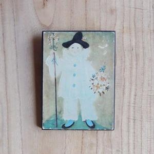antiques ピカソの「 Paul as Pierrot with Flowers」の絵のパネル