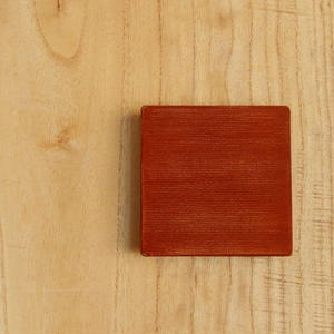 土田和茂 板皿3 x3 (弁柄)