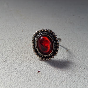 antiques 赤いストーン付きの指輪