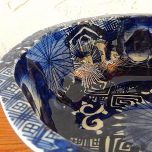 古道具 伊万里 染付鉢(8.5寸)