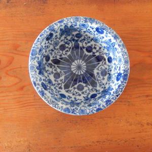 古道具 星型 印判の鉢(6.5寸)
