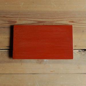 土田和茂 板皿4 x7 (弁柄)