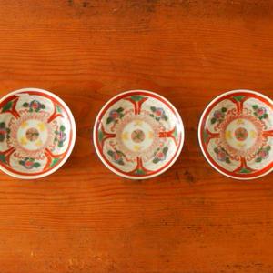 古道具  印判 豆皿(蝶々)