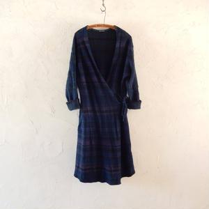 takuroh shirafuji Indigo Wool  Cache-cœur Coat