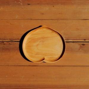 四十沢木材工芸  桜小皿  もも size S