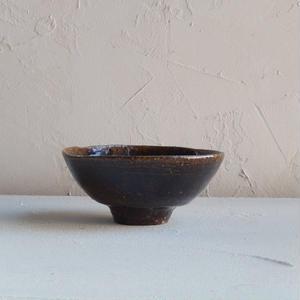 鶴野啓司  鉄釉 碗
