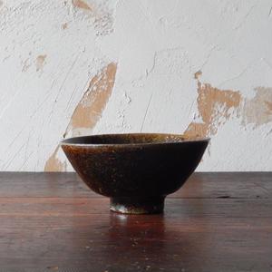 鶴野啓司  鉄釉碗②