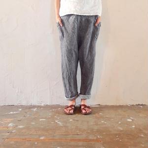 takuroh shirafuji Chao Phraya[Sarouel Pants(Denim Linen) :  Women]