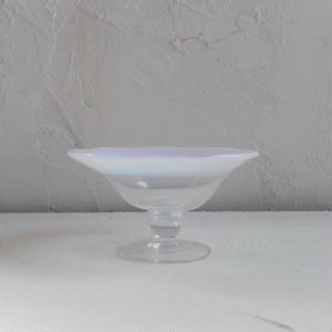 古道具 大正ガラス 菓子皿  (ピンク)