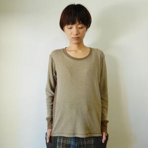takuroh shirafuji Manish Boy [Cut sew:khaki]Ladies'