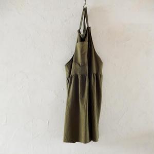 COCOLO Linen Dress apron(Khaki)