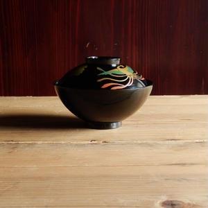 古道具 輪島塗  鳳凰の蒔絵のお椀