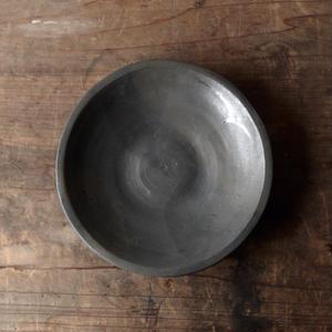tokiki  7寸 リム皿(黒マット)