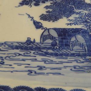 古道具 印判の大皿(8.5寸)