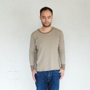 takuroh shirafuji Manish Boy [Cut sew:khaki]Men's