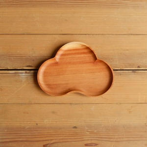 四十沢木材工芸  桜小皿 まつ  size M