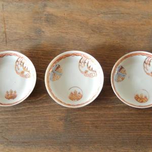 古道具  印判 豆皿(鳥)