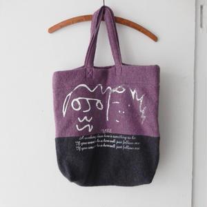 takuroh shirafuji Print Wool Tote Bag