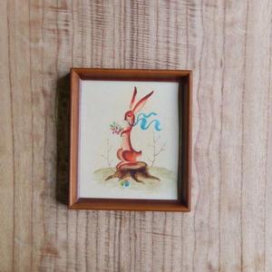 antiques ウサギの絵