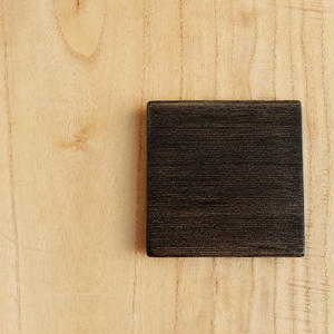 土田和茂 板皿3 x3 (黒)